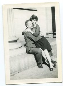 "Keith B. Lile and ""Betty"" on the capitol steps in Denver. Who exactly this woman was is still unknown."