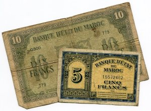 Moroccan money, 1944