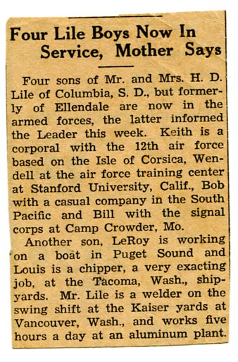 1945 News clipping