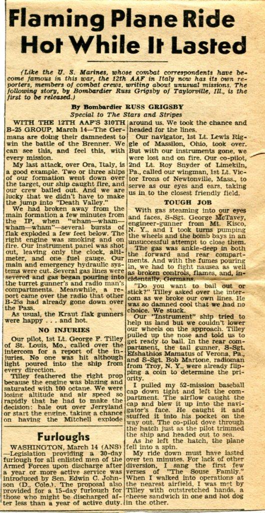 Stars and Stripes newspaper, 3-14-45