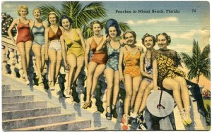 Girls at Miami Beach, Florida.