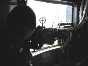 Waist gun of B-25
