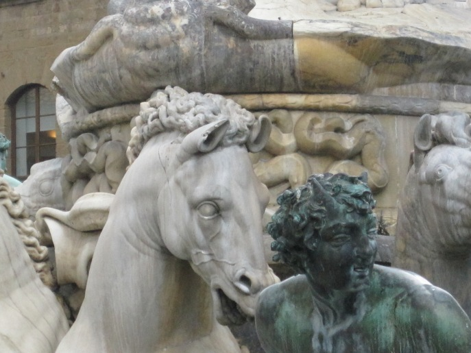Gossips. By the fountain in Florence.